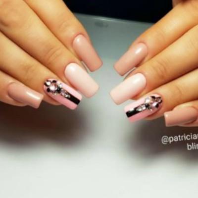 Nails With Swarovski Crystals